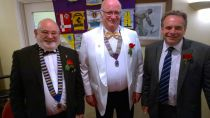 Lion President Brian DG Fred Neil and Neil Parish