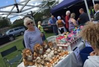 Lions ladies selling Lions and goodies