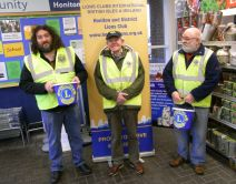 Lions Jamie Paddy and Brian at Tesco collecting Easter
