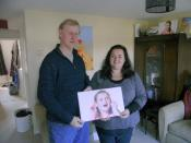 Lion Trevor who duly delivered and installed Humax box for Amie Francis and her daughter Jemimah,