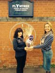 Winner of the 1kg donated Eater Egg raffle raised £100 at Plymtree primary