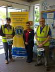 Louisa, Honiton Tesco communities champion with Lions Barry and Bernard
