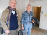 Lions Ed and Tom with tools following a days assistance with the move