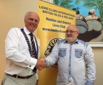 Handover from Lion Brian to Lions Steve