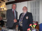Lion Steve hands over to Lion President Brian for 2016/17