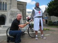 Handing over the baton in Honiton before the next leg