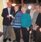 Lions Ladies present the £750 to HospiceCare