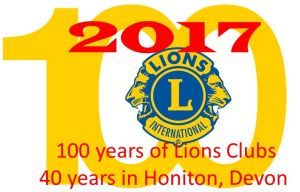 100 years of Lions Clubs and 40 serving Honiton community