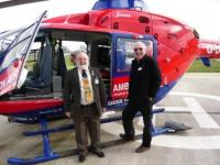 Lion President with VP Lion Bob by Air Ambulance
