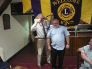 Presidents Handover from Lion Ed to Brian