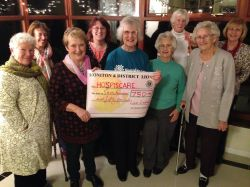 Hospiscare receive their £750 from Lions Ladies