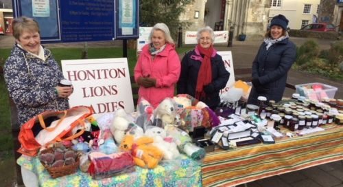 Lions Ladies at their Christmas stall