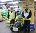Lions John and Brian at Otter Nurseries wheelbarrow raffle