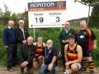Handover of new scoreboard to HRFC