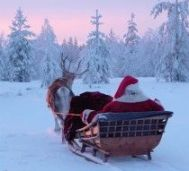 Santa on his way from Finland