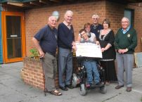 Presentation of Cheque for £500 to Seeability
