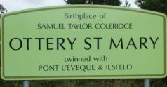 Ottery St Mary sign