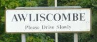 Awliscombe sign