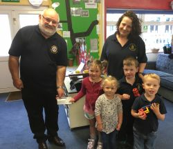 Predentation of £100 to Uppottery Pre School