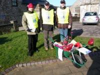 COLD Honiton Lions with the valentine day wheelbarrow