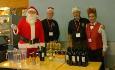 Wine waiters and Father Christmas